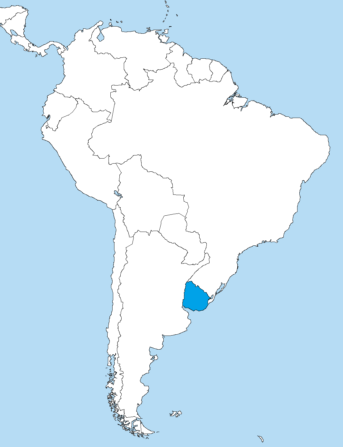 Map Of South America 2017.File Uruguay In South America Png Wikimedia Commons