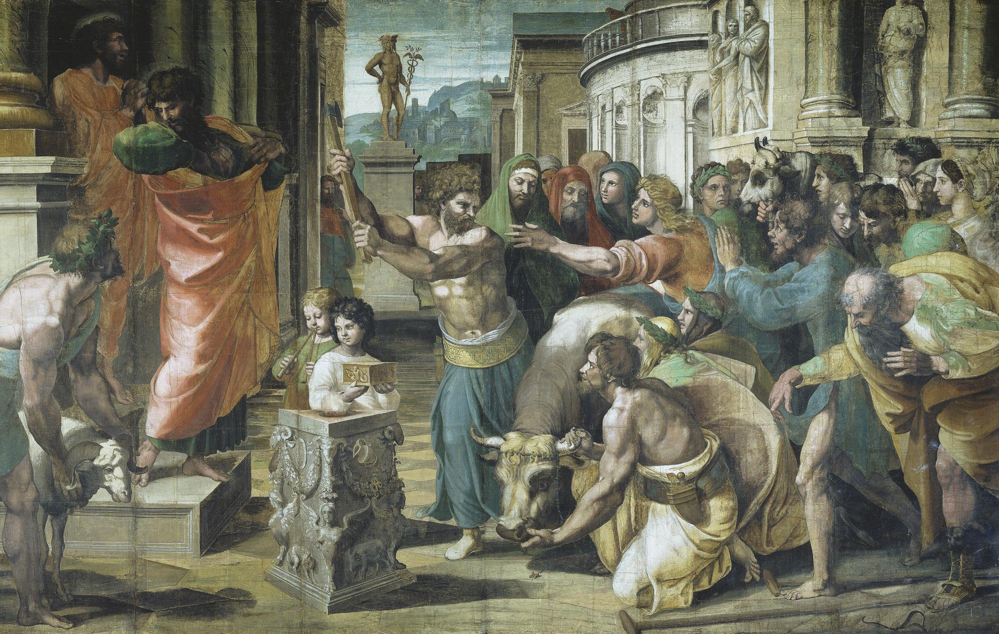 Файл:уиа - Рафаи, жертвоприношение в Листре (1515).Формат JPG