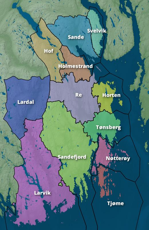 kommuner i vestfold kart Kommunereformen i Norge – Wikipedia kommuner i vestfold kart