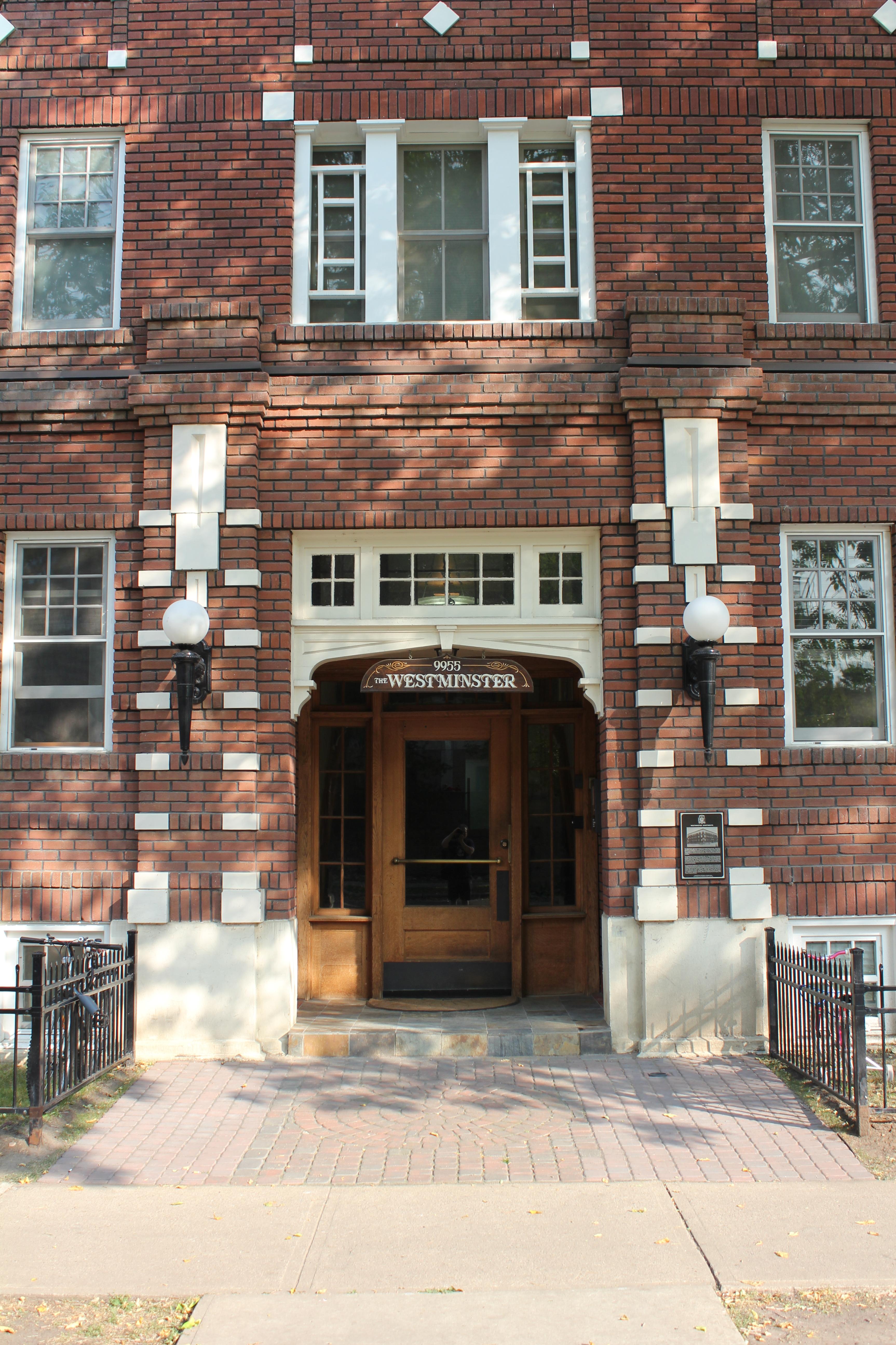 File:Westminster Apartments, Edmonton (front door).JPG ...