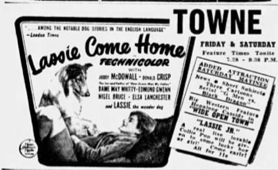 "Angielska reklama filmu ""Lassie, wróć!"" (1943)"