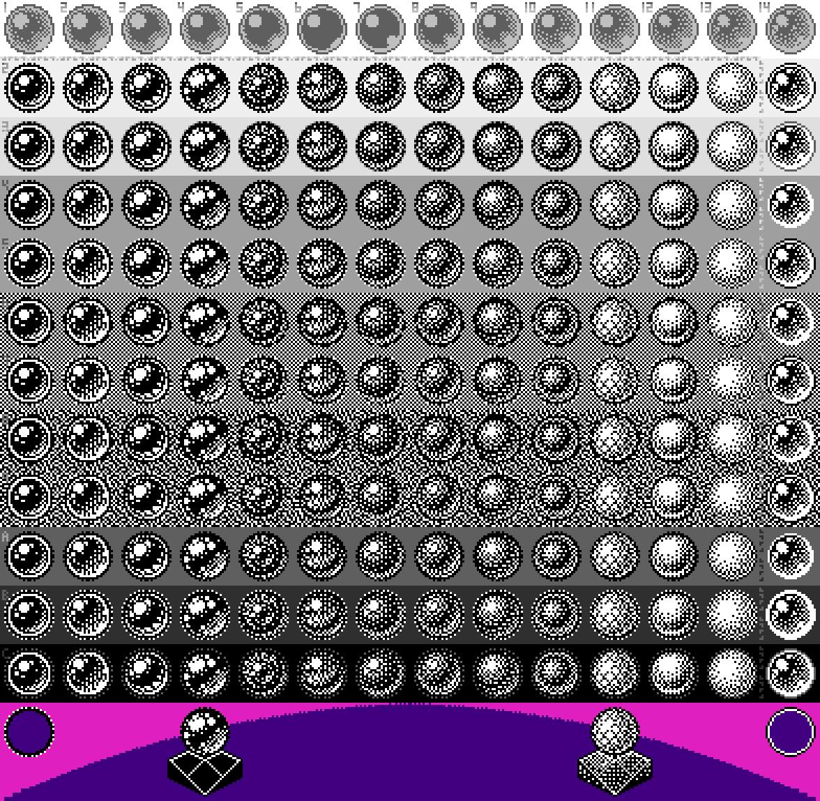 File 2 Bit Pixel Art Balls X3 Png Wikimedia Commons