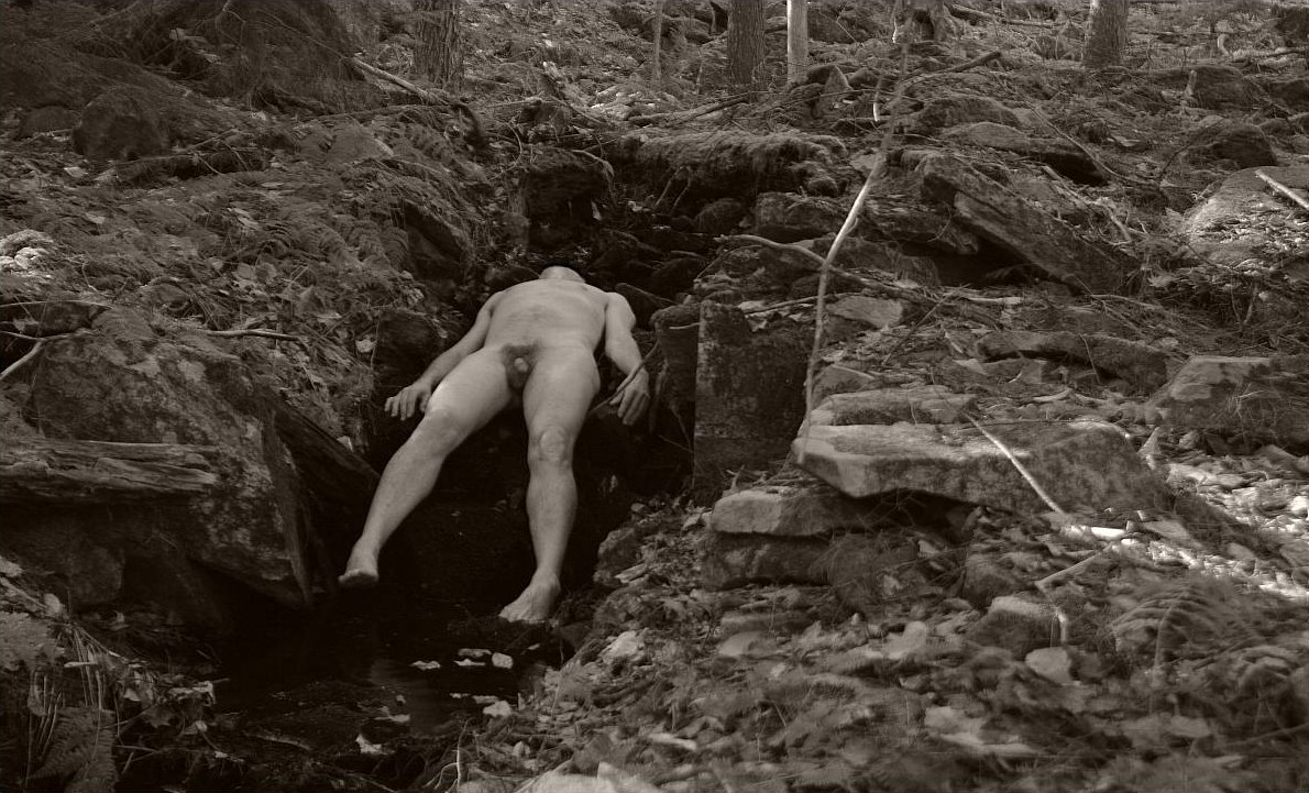 Nude guys in the forest