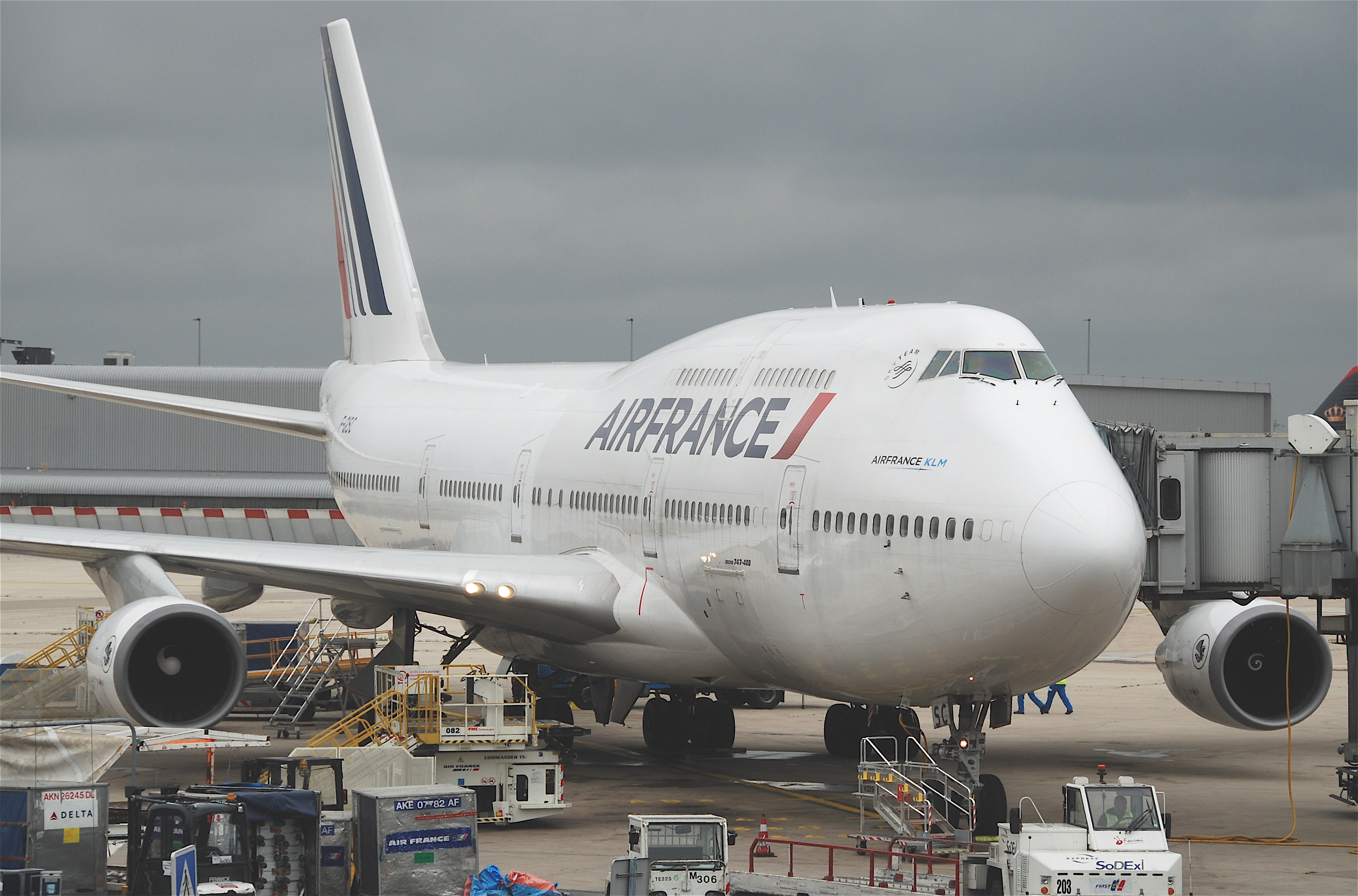 File air france boeing 747 428 f gisc cdg for Interieur 747 air france