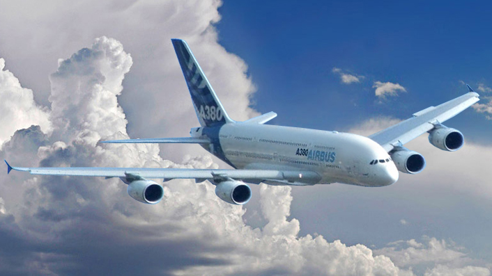 Describe and explain how the A380 is both the product of and a contributor to globalization?