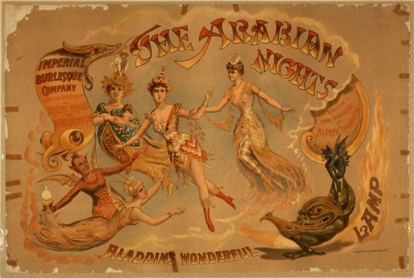 Aladdins lamp, part of Burlesque Company poster
