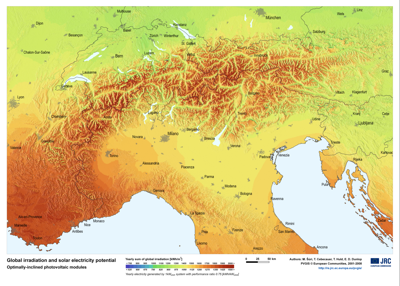 Map of Swiss Alps File:alps Solar Map.png