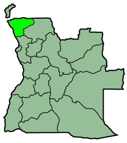 Map of Angola with the province highlighted