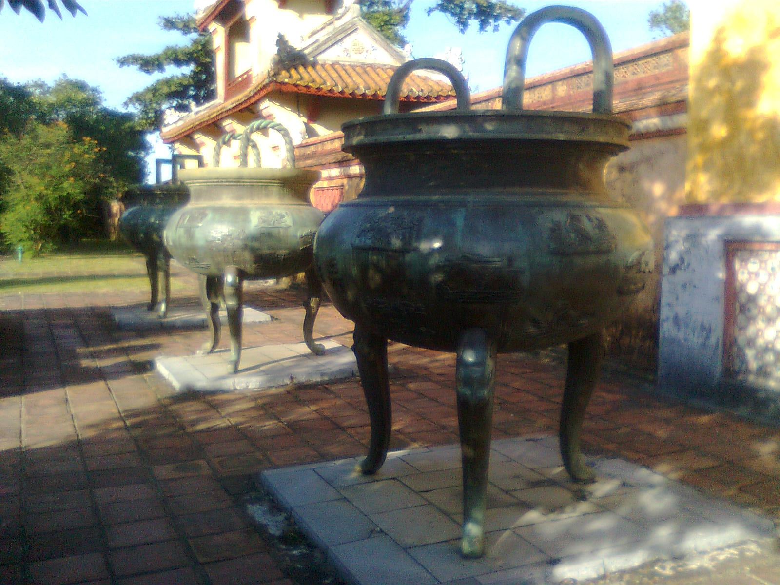 Nine Tripod Cauldrons
