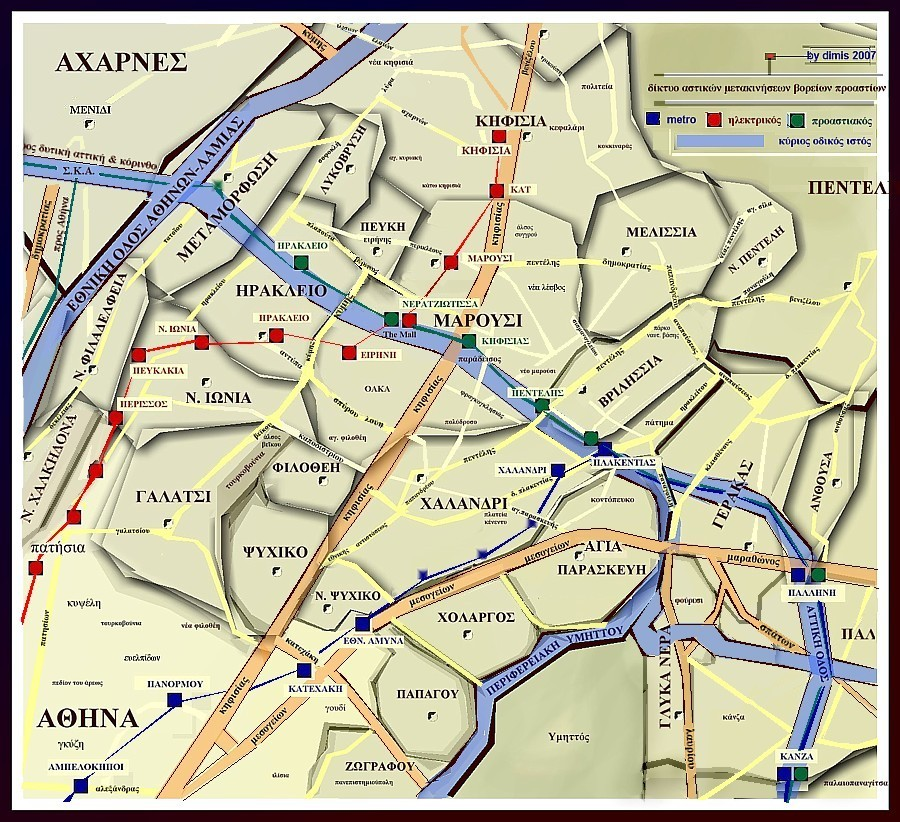 File Athen Suburbs Transport Map Jpg Wikimedia Commons
