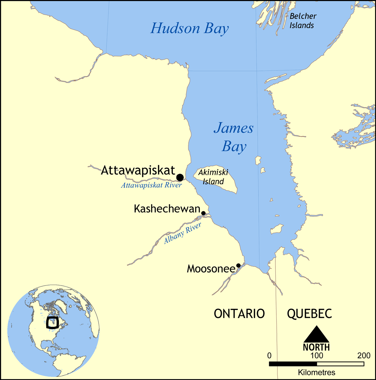 James Bay Canada Map Attawapiskat River   Wikipedia