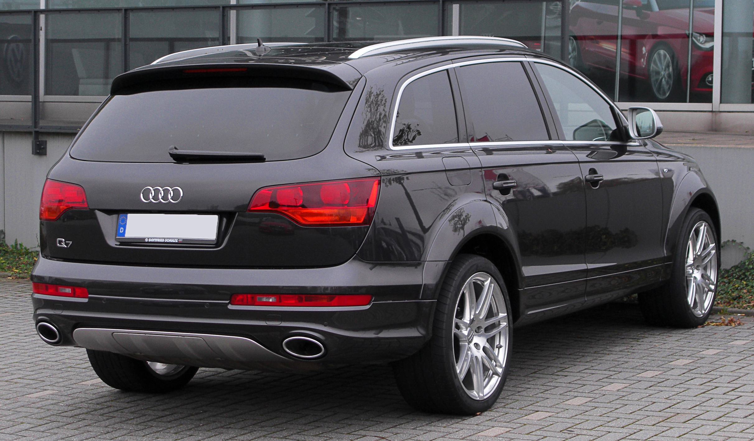 file audi q7 v12 tdi quattro facelift rear. Black Bedroom Furniture Sets. Home Design Ideas