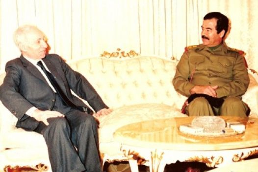 File:Baath Party founder Michel Aflaq with Iraqi President Saddam Hussein in 1988.jpg