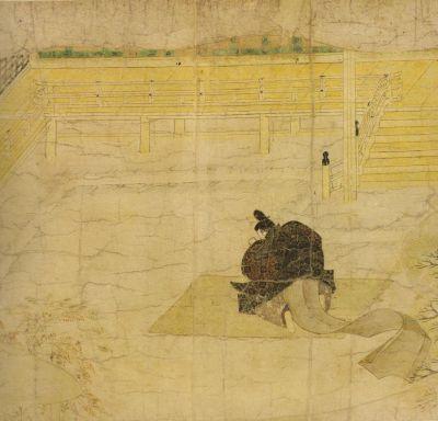 File:Ban Dainagon Ekotoba - Minamoto no Makoto praying.jpg