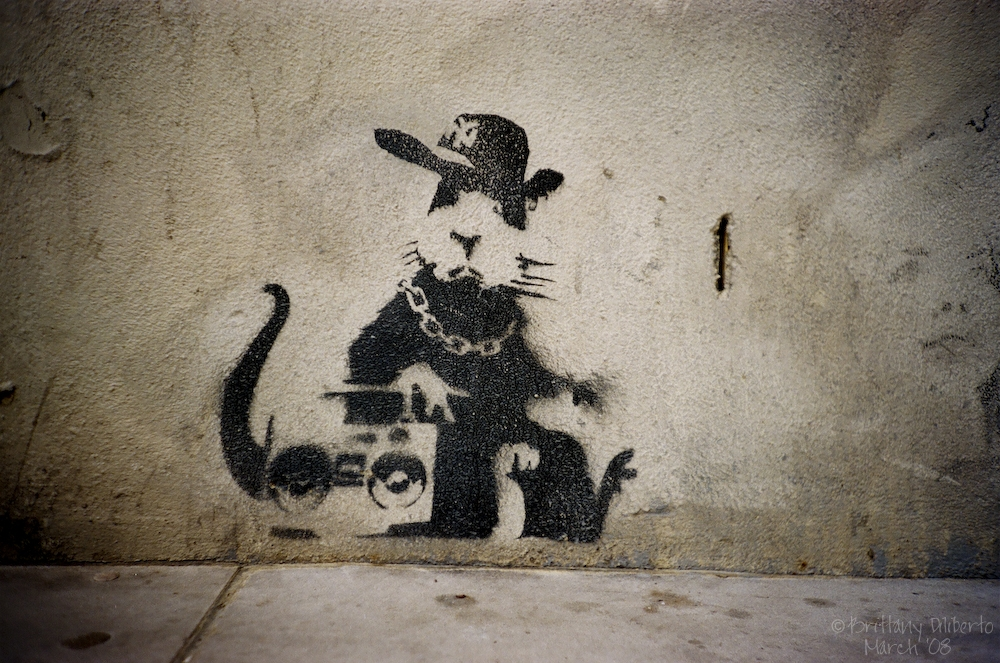 Banksy Hip Hop Rat
