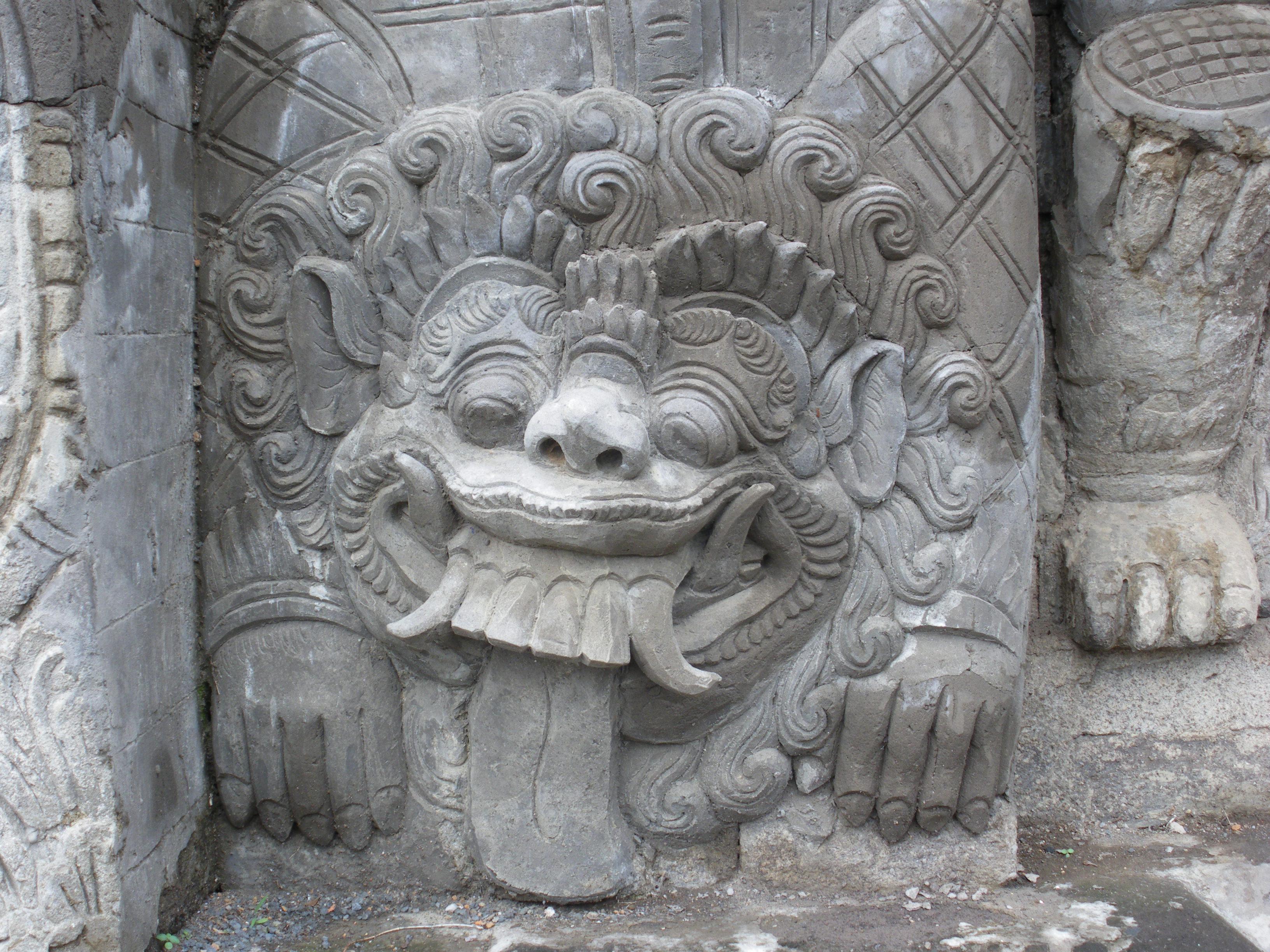 File bas relief dans un temple hindouiste g