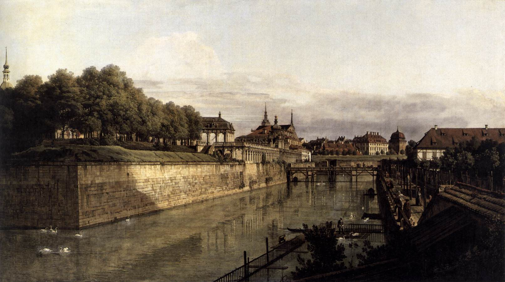 file bernardo bellotto il canaletto the moat of the zwinger in dresden. Black Bedroom Furniture Sets. Home Design Ideas
