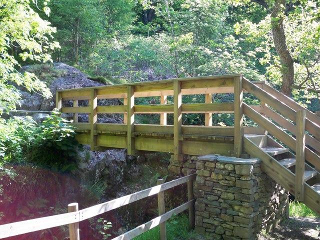 Bridge below Aira Force - geograph.org.uk - 1340714