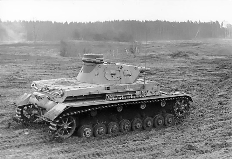 PzKpfw IV Ausf. D on a training exercise