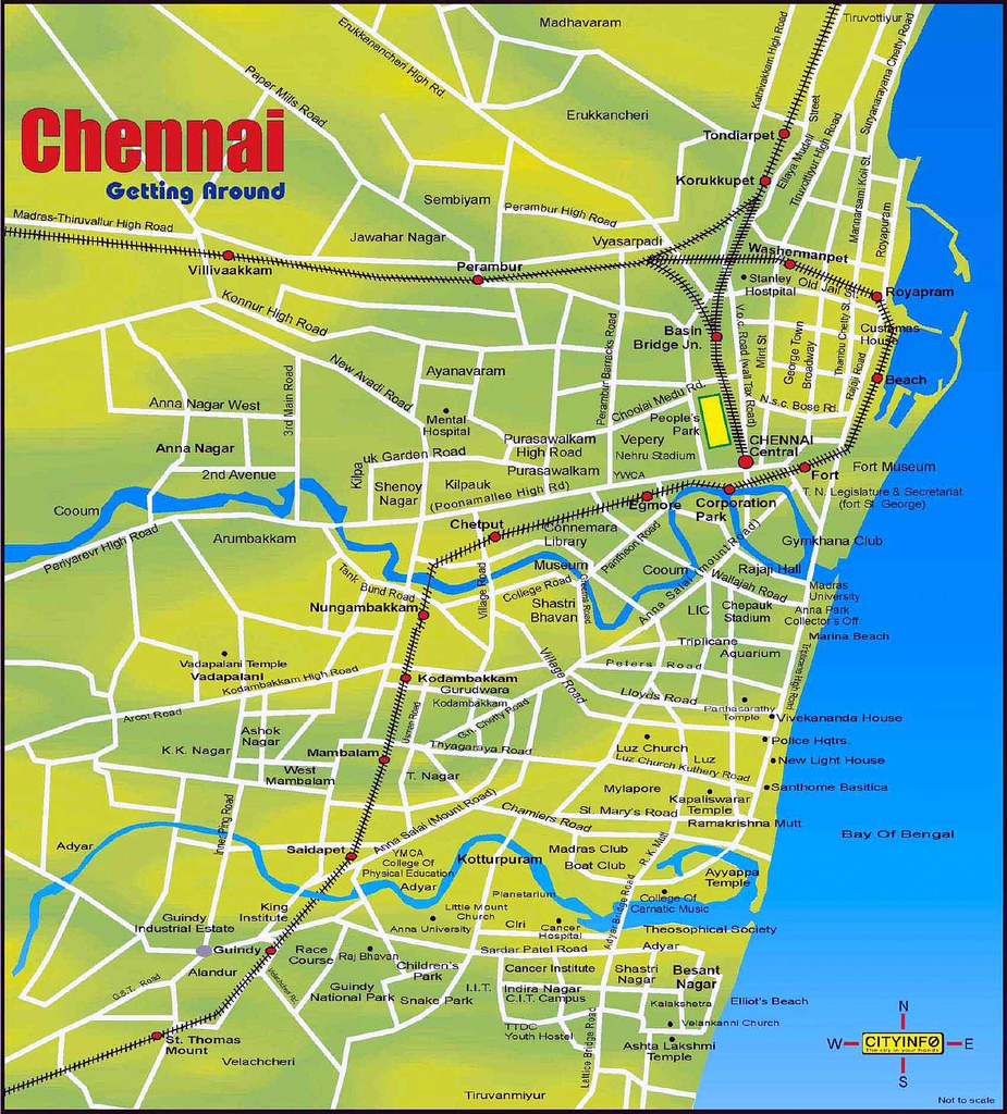 Large Chennai Maps for Free Download and Print | High ...