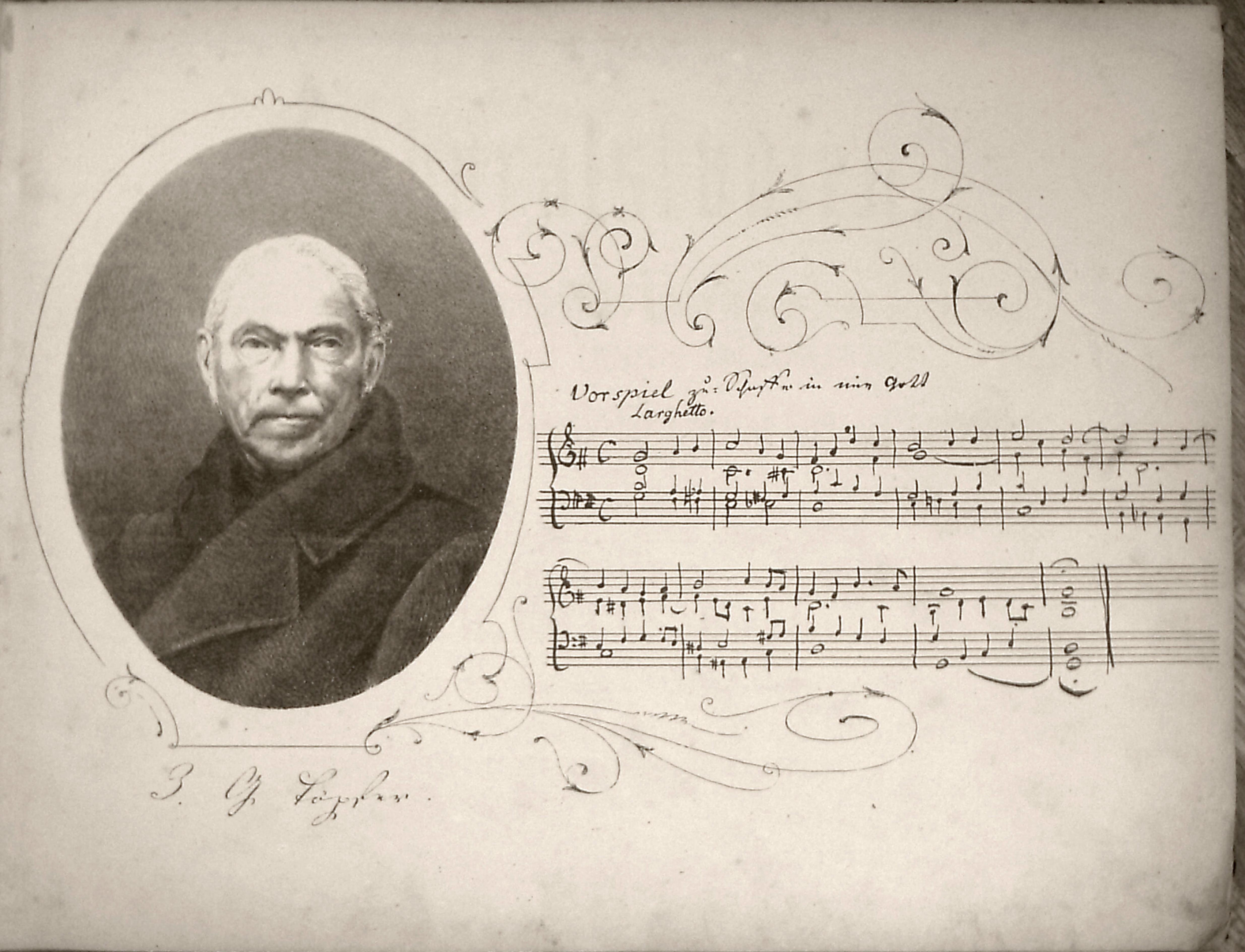 Titlepage of Choralstudien 1873