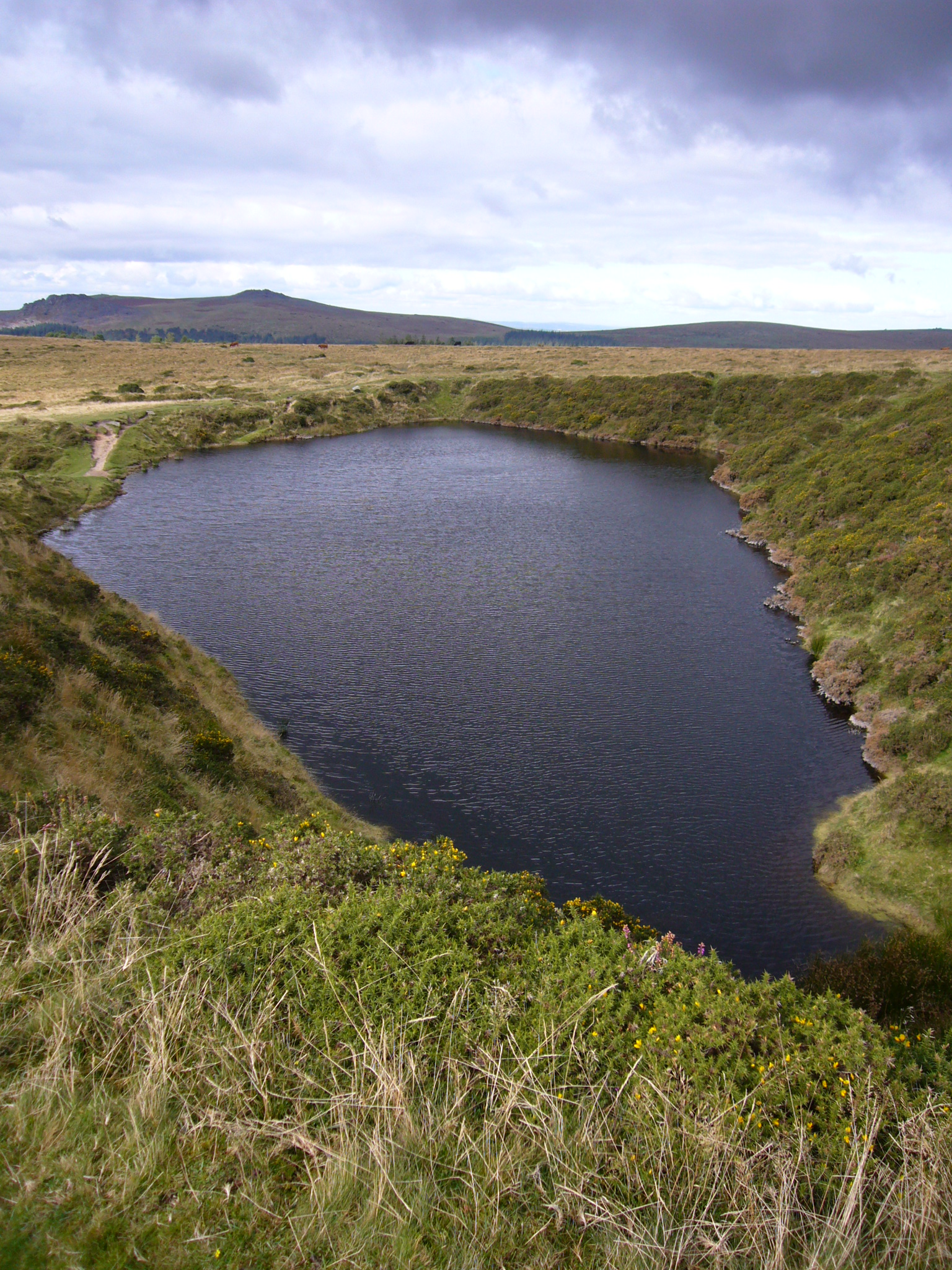 An image of Crazywell Pool, home to its own lake folklore