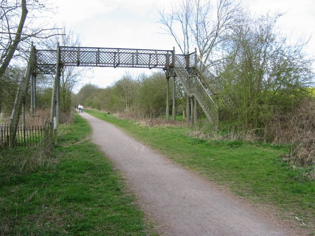 Disused Footbridge over Brampton Valley Way - geograph.org.uk - 395134