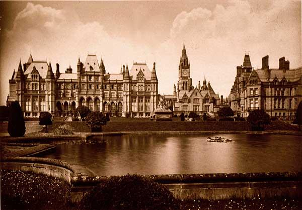 File:Eaton Hall c 1880 - Waterhouse's version. Photo by Francis ...