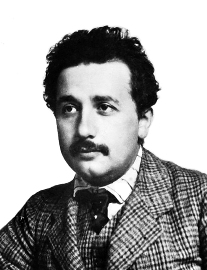 Portrait of Albert Einstein. 1904 or 1905