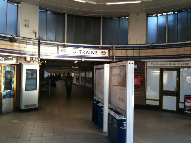 Entrance to Earls Court Underground Station - geograph.org.uk - 1616109