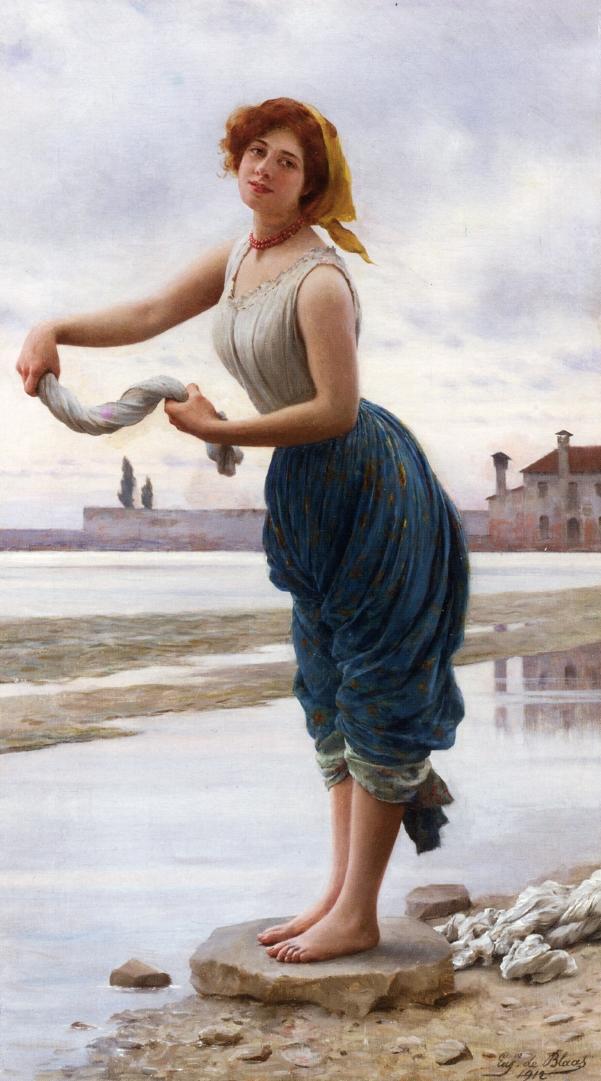 Eugene de Blaas - The Lavender (1912).jpg