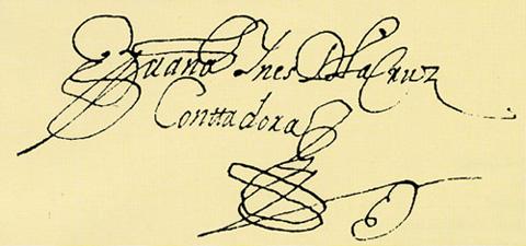Description firma de juana inés de la cruz