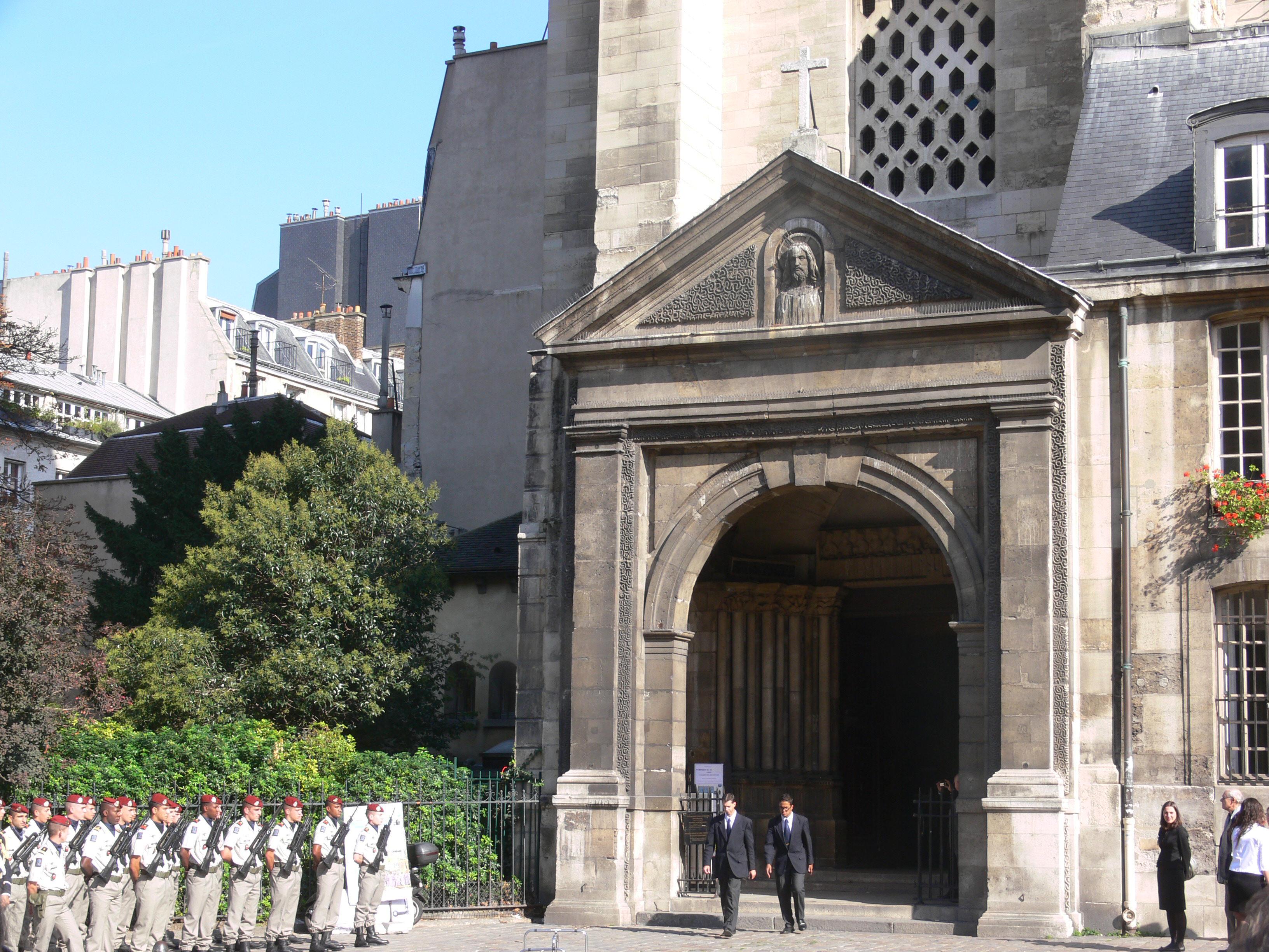 Funeral of Jean Leclant at the [[Abbey of Saint-Germain-des-Prés