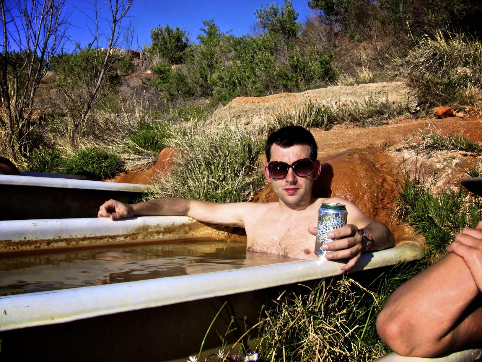File:German tourist enjoying Mystic Hot Springs bathtubs.jpg ...