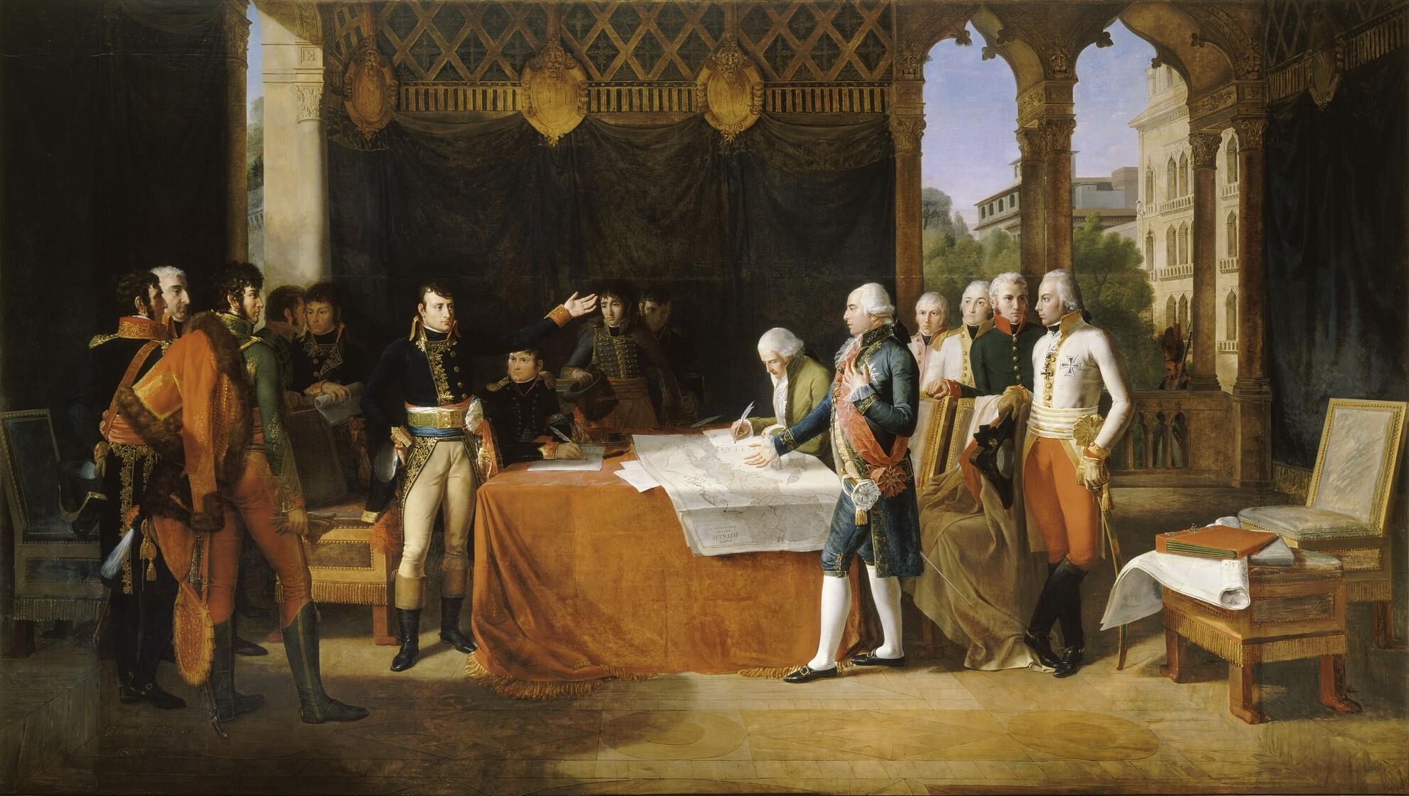 Il generale Bonaparte conclude i preliminari di pace a Leoben il 18 aprile 1797