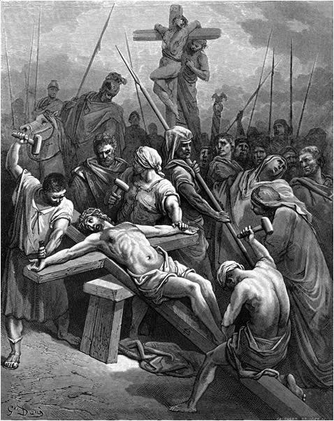 십자가에 못 박히신 예수님 (귀스타브 도레, Gustave Dore, 1866년)
