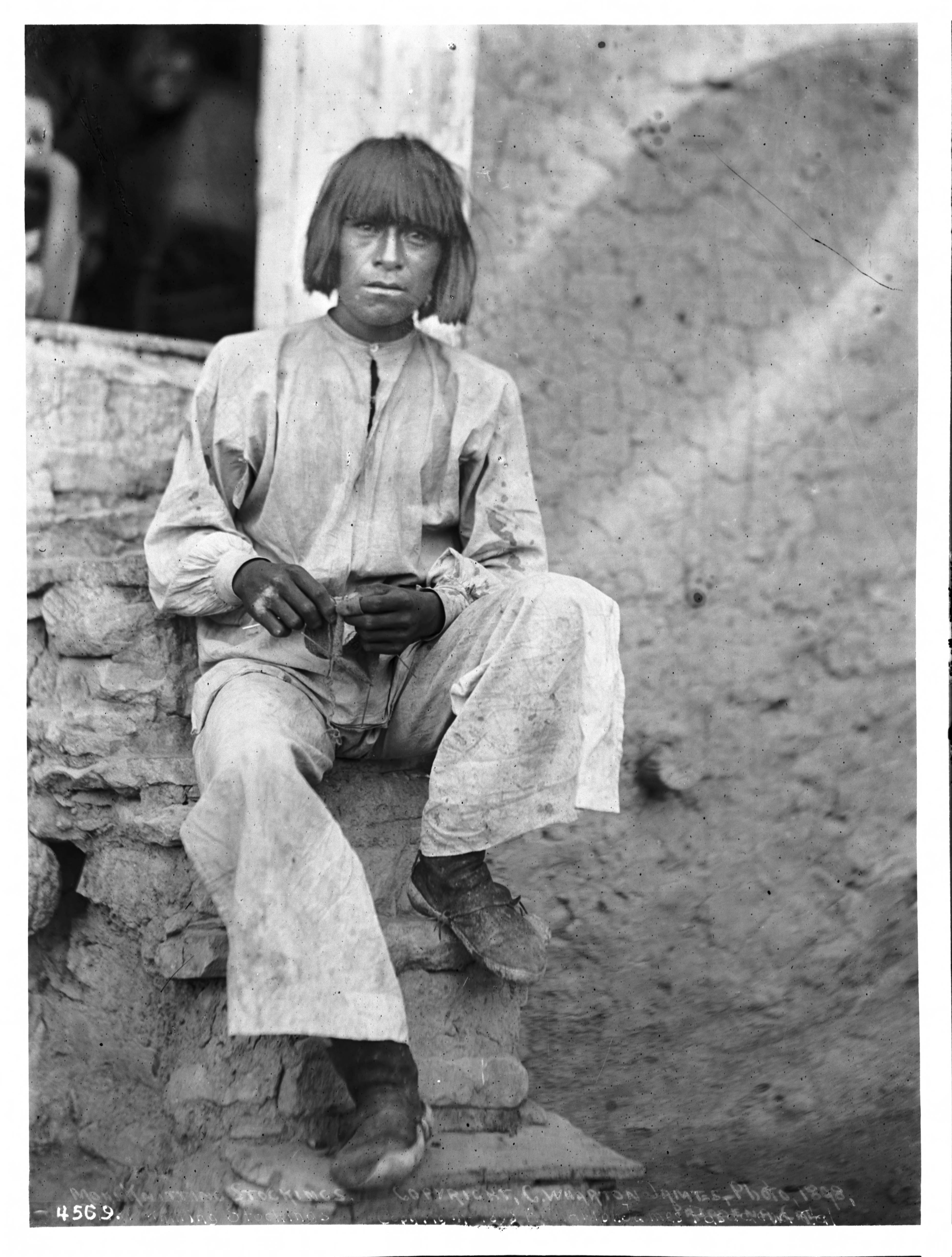 filehopi indian man knitting stockings ca1898 chs4569