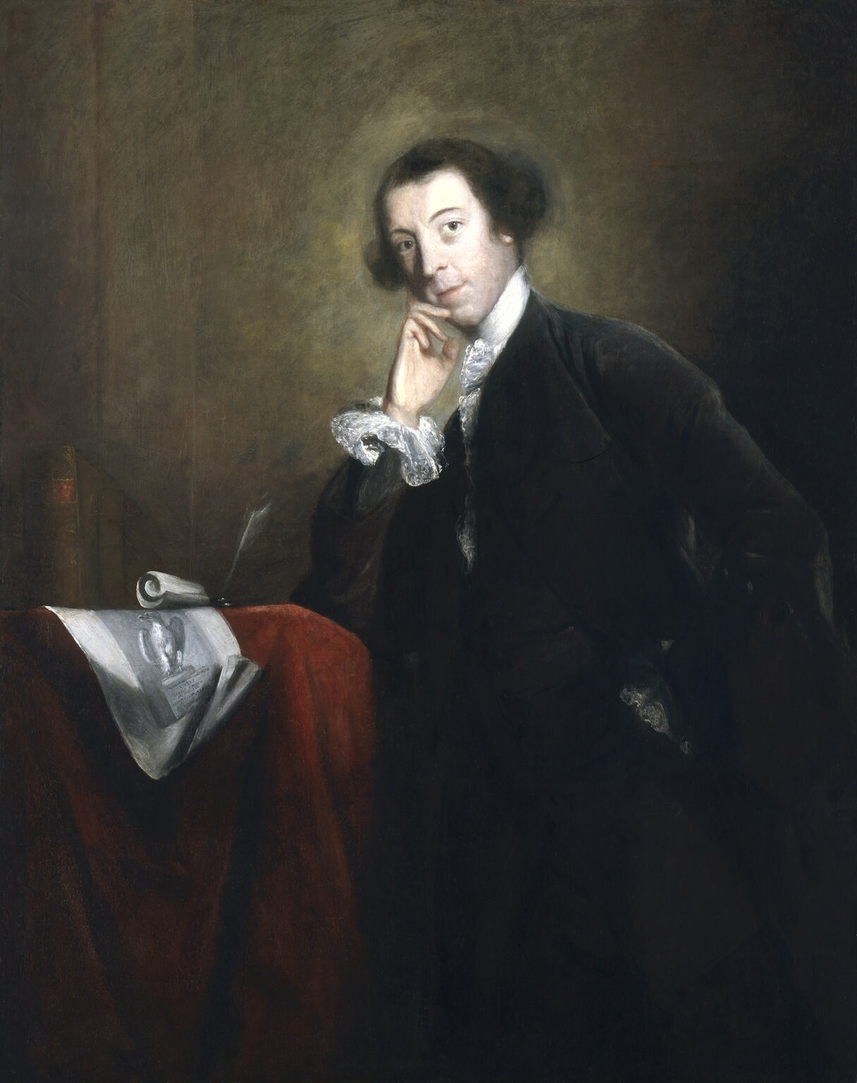 Horace Walpole by Joshua Reynolds  1756   National Portrait Gallery, collection London .