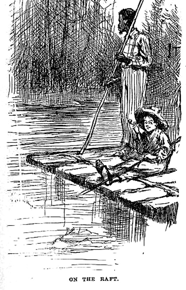 Ficheiro:Huck and jim on raft.jpg