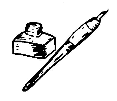 Fichier:Indian Election Symbol Ink Pot and Pen.png