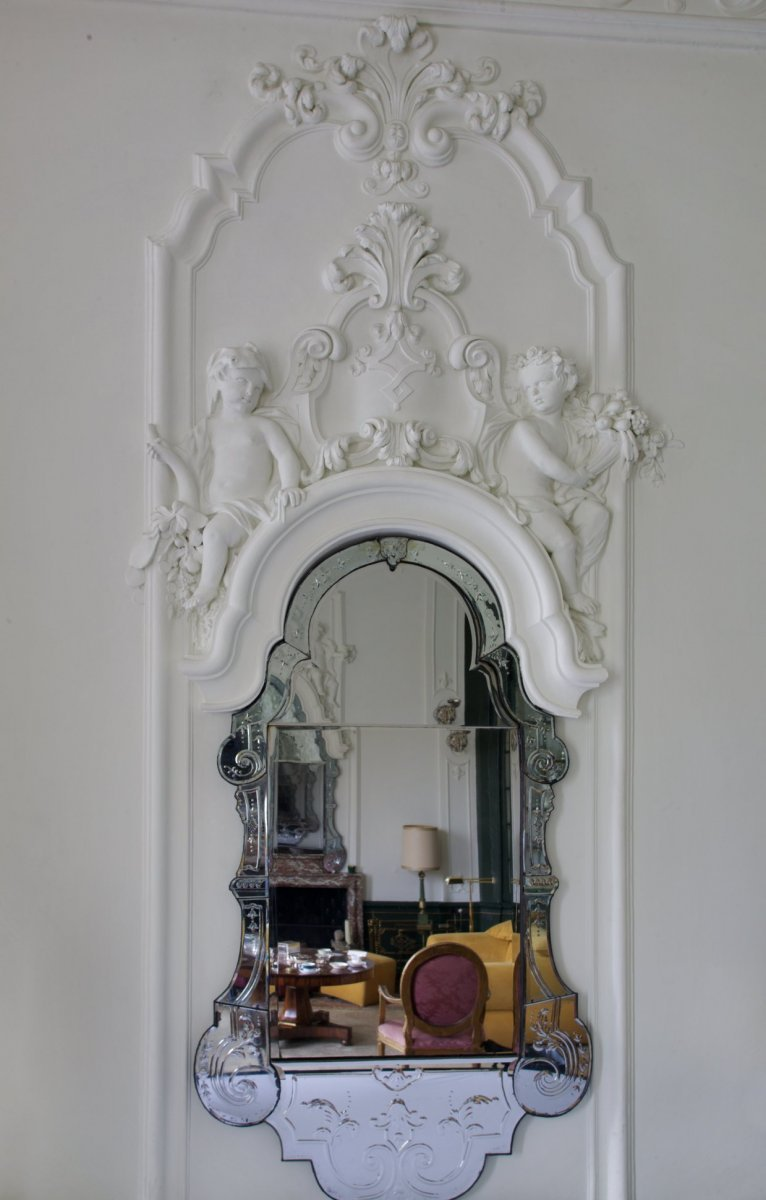 File:Interieur, stucwerk rondom spiegel, in zaal - Amstelveen ...