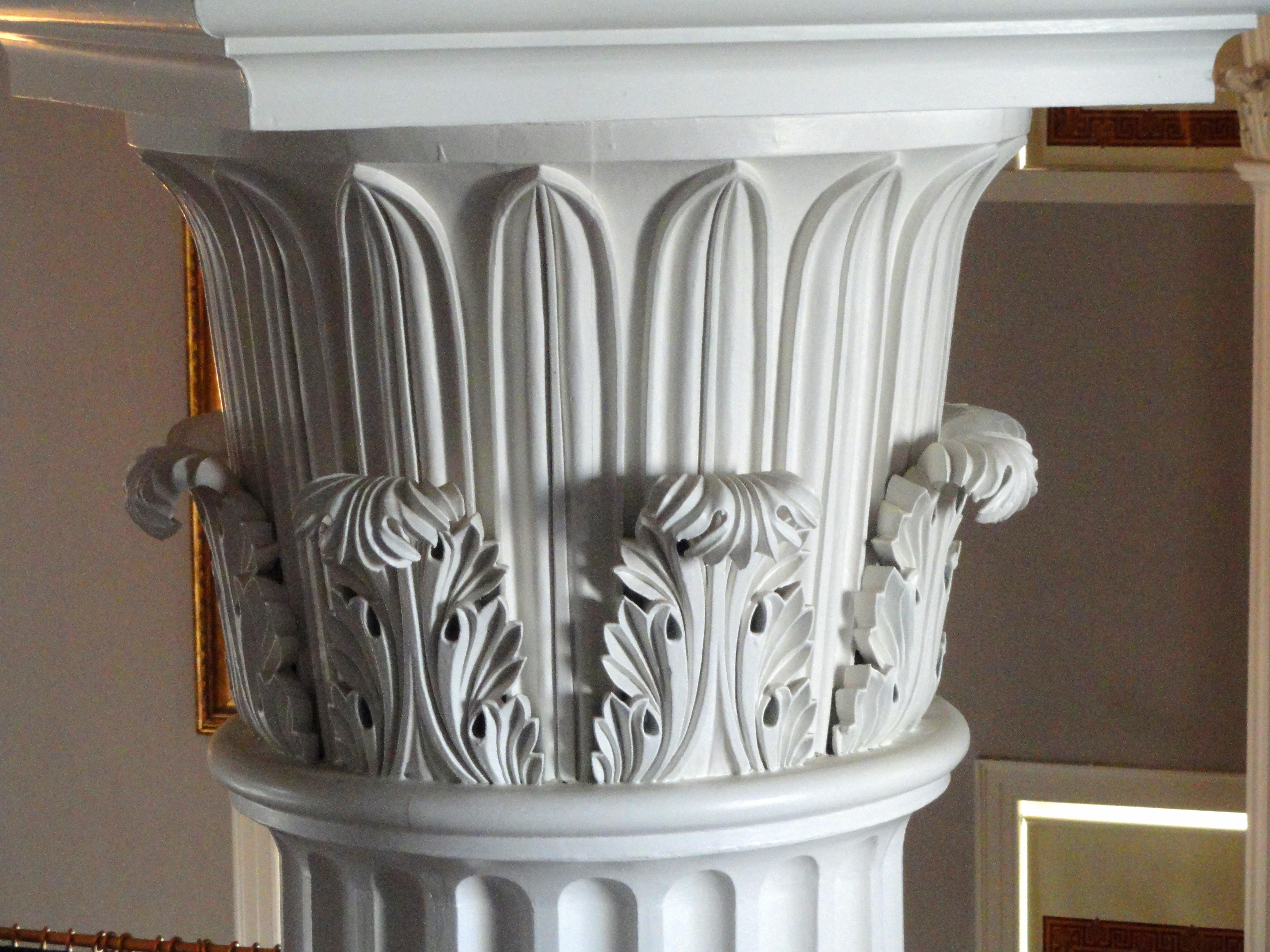 File:Interior column capital - North Carolina State Capitol ...