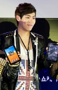 John Park at the Samsung's Galaxy Tab on Jan 6, 2011 from acrofan.jpg