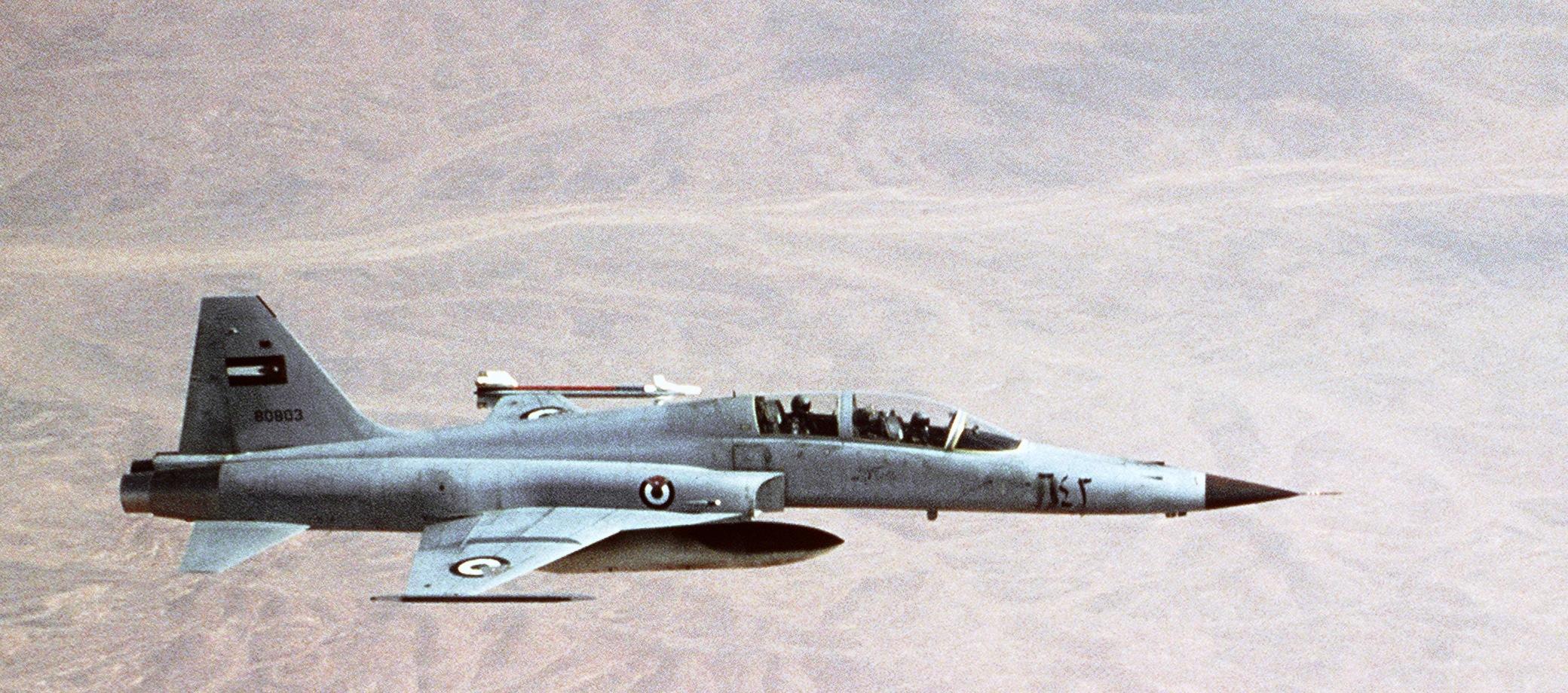 Jordanian F-5 Tiger II aircraft (1987).JPEG