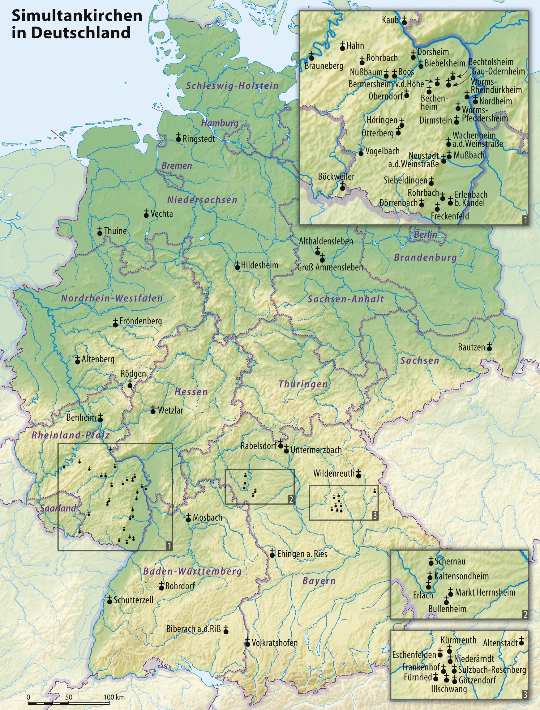 Stadte In Deutschland Deutschland Stadte Karte