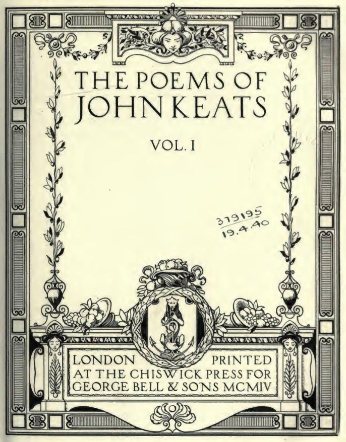 Opere di John Keats - Wikipedia