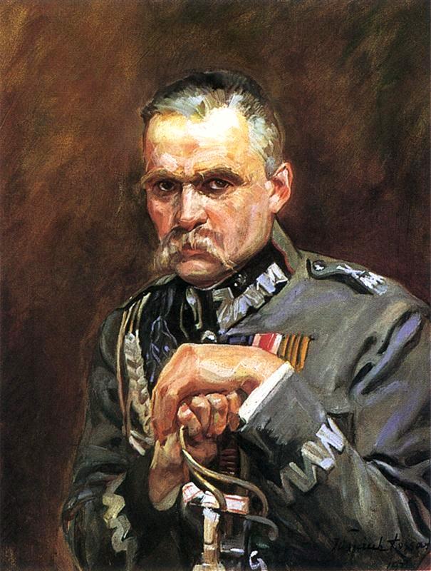 Portrait of Marshal Józef Piłsudski.