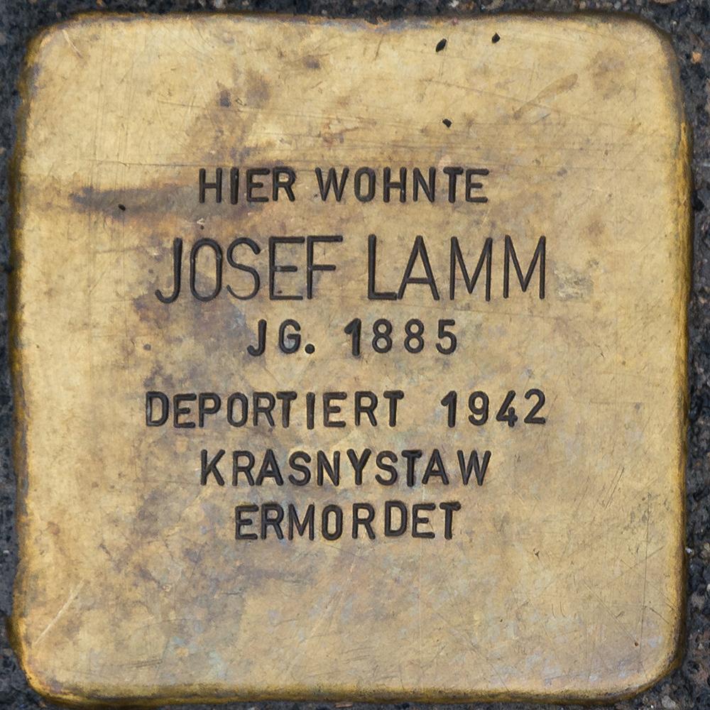 Kronach - Stolperstein Josef Lamm (Kulmbacher Straße 21).jpg