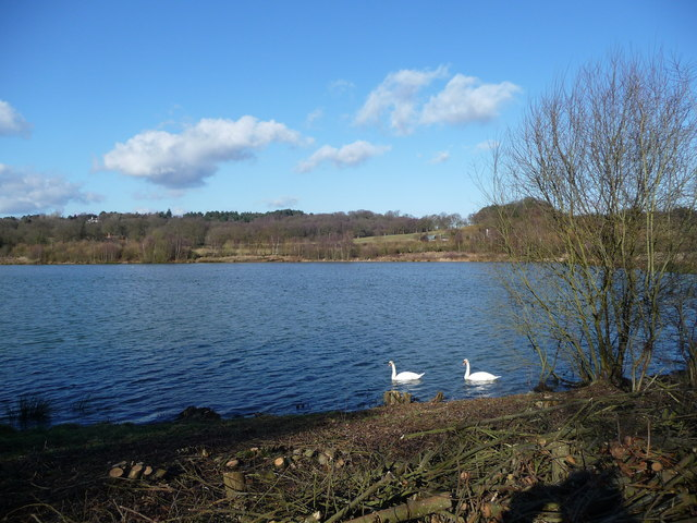 Lake in the Blackwater Valley - geograph.org.uk - 1156423