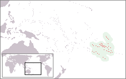 Location of French Polynesia